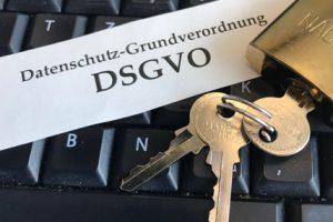 DSGVO Datenschutz Schlüssel Tastatur Sicherheit