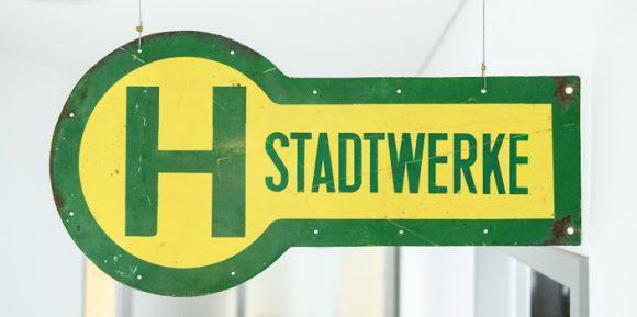 Schild Haltestelle Stadtwerke