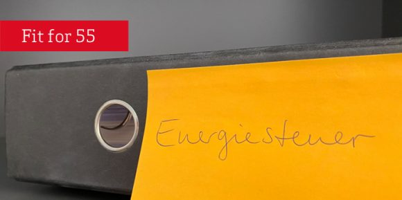fit for 55 Ordner mit Aufschrift Energiesteuer