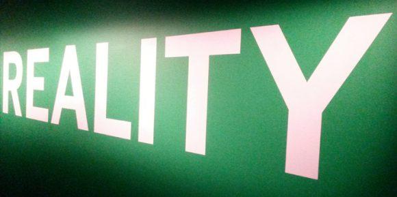 Reality Schriftzug in grün